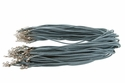 Faded Aqua Blue Suede Leather Necklace Cords