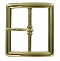 "FCB7-GP Shiny Gold Belt Buckle 1-3/4"" (45mm) wide"