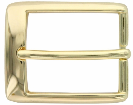 "Gold Plated Bow Curved Style Belt Buckle 1-1/4"" A1136-GP"