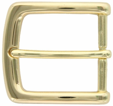 "Gold Plated Casual Dress Belt Buckle 1-3/8"" P3563-GP"