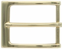 "Gold Plated Casual Dress Belt Buckle 1-3/8"" P4270-GP"