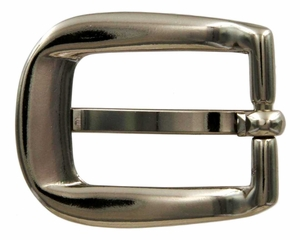 "H-01  NP Polished Nickel Heel Bar Buckle 3/4"" Wide"