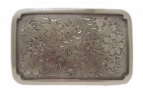 H8134 LASRP Sterling Silver Plated Western Belt Buckle
