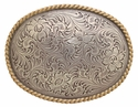H8136 ASAG Antique Silver with Antique Gold Rope Western Belt Buckle