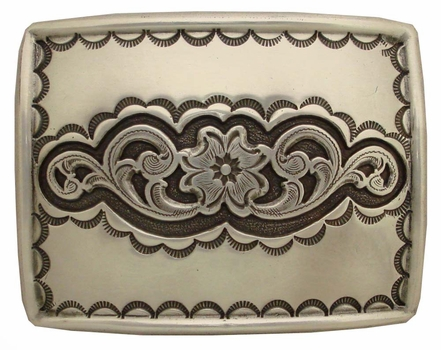 H8140 LASRP Southwestern Tooled and Engraved Belt Buckle