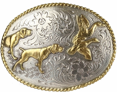 H8158 ASAG Hunting Dogs Western Cowboy Belt Buckle