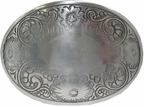HA0072-1 LASRP Antique Silver Western Belt Buckle