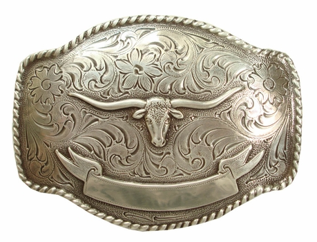 HA0435 LASRP  Longhorn Belt Buckle