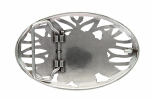 Floral Rose Womens Belt Buckle (HA0493-2 LASRP)