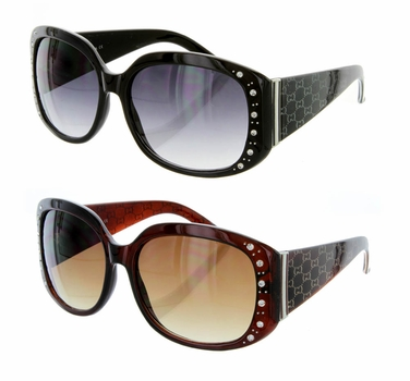 R026 High Quality Fashion Rhinestone Sunglasses 12 Pair