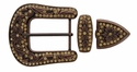 "HRABC27 COTP Rhinestone 1 1/2"" Belt Buckle Set"