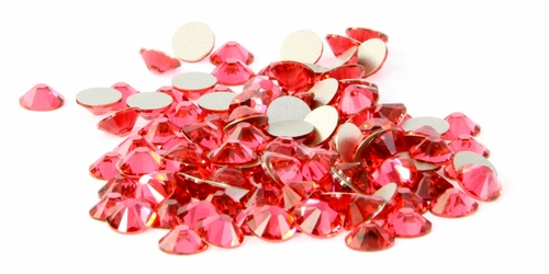 Indian Pink  Flatback Rhinestones