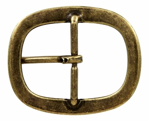 "JT-6393 OEB Brass Center Bar Buckle 1 1/2"" Wide"