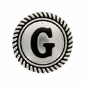 "Letter ""G"" Initial Screwback Concho"