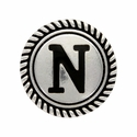 "Letter ""N"" Initial Screwback Concho"