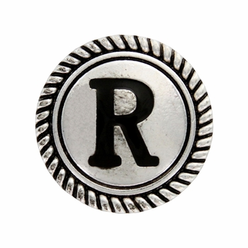 "Letter ""R"" Initial Screwback Concho"