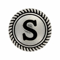 "Letter ""S"" Initial Screwback Concho"