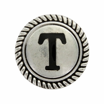 "Letter ""T"" Initial Screwback Concho"