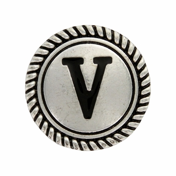 "Letter ""V"" Initial Screwback Concho"
