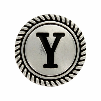 "Letter ""Y"" Initial Screwback Concho"