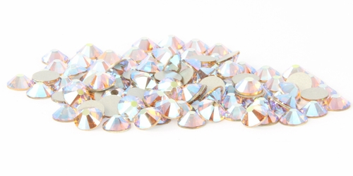 Light Colorado Topaz AB  Flatback Rhinestones