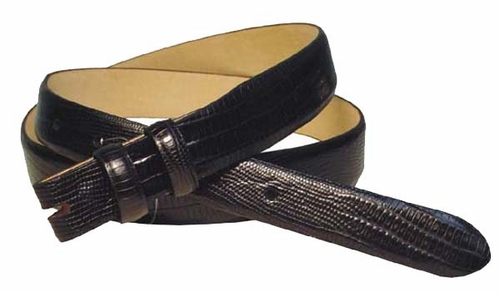 "Lizard Grain Belt Strap Taper 1 1/8"" to 1"" wide"
