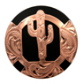 LL-1813 Cactus Concho Copper with Matte Black Paint 1""