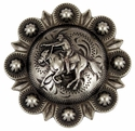 "LL-2067 OS 2"" Mounted Cowboy Shooter Conchos"