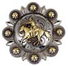 "LL-2068 OS/Gold 1.5"" Mounted Cowboy Shooter Conchos"