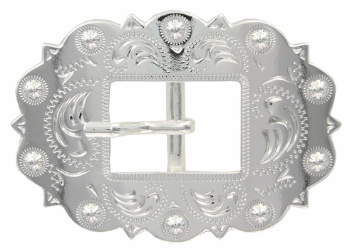 "LL-2275 SP Bright Shiny Silver  3/4"" Cart Buckle"
