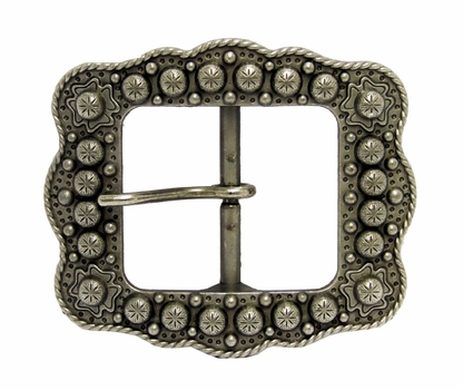 "LL-2675 OS Old Silver Berry Belt buckle 1-1/2"" (38mm)"