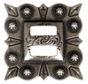 "LL-2868 OS 1-1/2"" Slotted Square Concho"