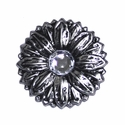 "LL-2908 OS Antique Silver Sunflower 1-1/2"" Concho"