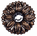 "LL-2908 Copper Sunflower Crystal 1-1/2"" Concho"