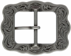 "LL-3420 OS Old Silver Berry Cart Buckle 1"" (25mm)"