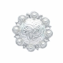 LL-3306 SP Bright Silver Berry Concho 1/2""