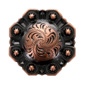 LL-3340 COPPER 1 inch Copper Octagon Berry Concho screw back