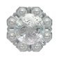 LL-3340 SP 1 inch Bright Silver Octagon Berry Concho screw back