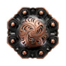LL-3341 COPPER 1-1/4 inch Copper Octagon Berry Concho screw back