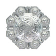 LL-3342 SP 1-3/4 inch Bright Silver Octagon Berry Concho screw back