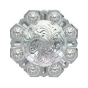 LL-3343 SP 2 inch Bright Silver Octagon Berry Concho screw back