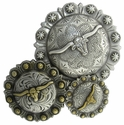 "Longhorn Steer Berry Steerberry Conchos ""Screw Back"""