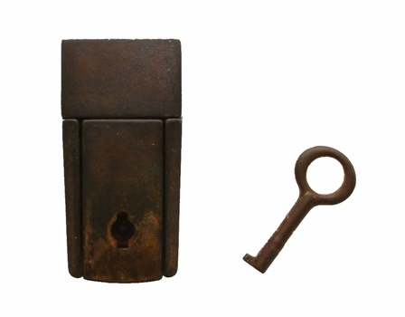 LP0034-2RI59 Tuck Lock Clasps With Key Open For Handbag Purse and Luggage Case Hardware