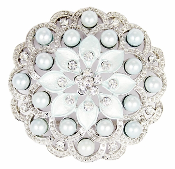 LPD-583 Belt Rhinestone Buckle -Blue ON SALE $2.95