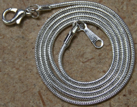 "Metal Necklace Cord 15"" Long- 12 pack"