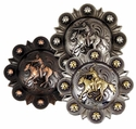Mounted Cowboy Shooter Berry Conchos