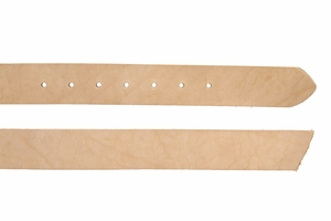 "Natural Cowhide Leather Belt Blanks with Adjustment Holes, 50""+ Long"