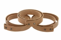 "Natural Cowhide Leather Belt Blanks with Snaps 8-9-oz (3.5mm-4.0mm) Size 50""+ Long"