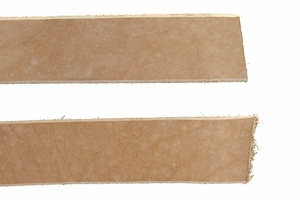 "Natural Cowhide Leather Strips, 50""+ Long"