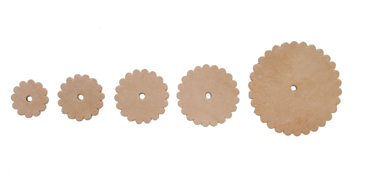 Natural Leather Conchos Rosettes